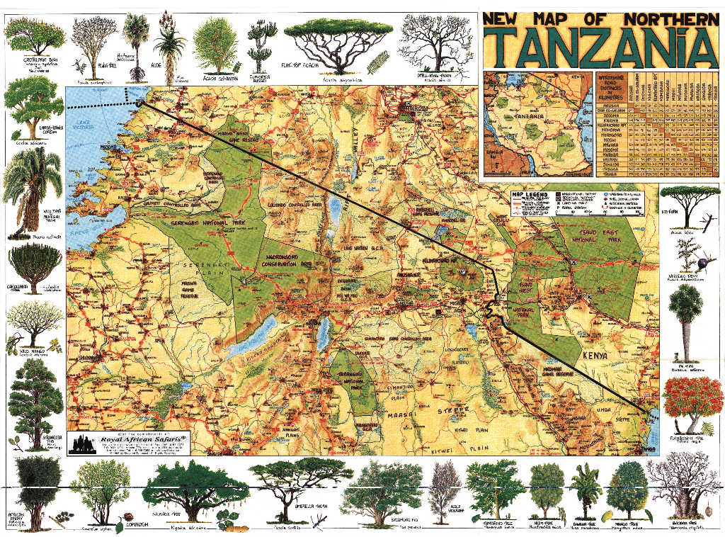 map of tanzania regions. New Map of Northern Tanzania