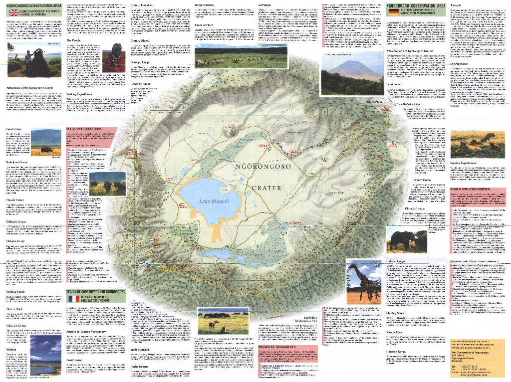Ngorongoro Tourist Map Guide